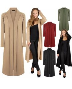 Womens Floaty Long Sleeve Open Front Maxi Cardigan Casual Jacket Coat Plus Sizes. By sourcing clothing directly from manufacturers both UK based and internationally Miss Trendy Clothing provides an easy efficient and fast service bringing the catwalk straight to your door. | eBay!