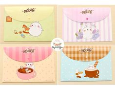 Molang Stationary, Molang file folder, anime stationary, cute stationary, file folder, gift for her, gift for children, korean stationery