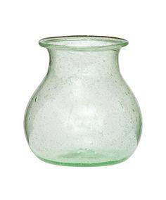 Honey Pot Recycled Glass Vase