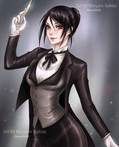Female Sebastian Michaelis by Mari945