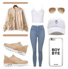 """""""Untitled #13"""" by aesthetic-jiminie ❤ liked on Polyvore featuring Topshop, NIKE and Ray-Ban"""