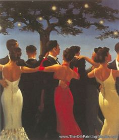 Jack Vettriano, The Waltzers Fine Art Reproduction Oil Painting