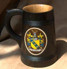 Beer Mug German Mugs Barrel Cup Wooden Natural Oak Wood Brown 23 OZ 0.7 L Gift