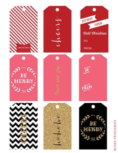 Blush Printables - Holiday Gift Tag Set by blush printables