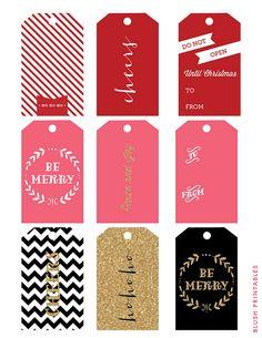 Blush Printables - Holiday Gift Tag Set by blush printables