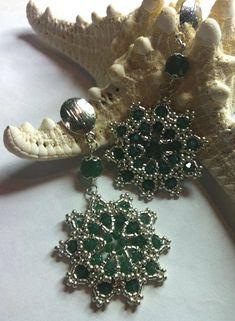 Tutorial orecchini con swarovski, Come fare orecchini Absinthe con perli...