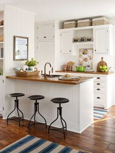 Country Style Kitchen With Baskets Over The Cabinets : Decorating The Top Of Your Kitchen Cabinets