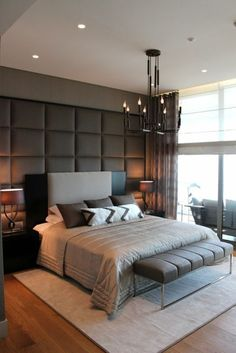 Impressive Master bedroom closet remodel,Bedroom remodel murphy beds and Small bedroom office decorating ideas. Modern Bedroom Design, Master Bedroom Design, Contemporary Bedroom, Bed Design, Home Bedroom, Bedroom Wall, Bedroom Furniture, Bedroom Decor, House Design