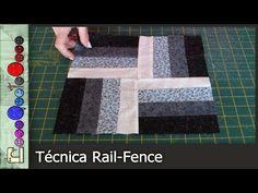 Cómo hacer la técnica Rail Fence (Patchwork) [Tutorial] - YouTube