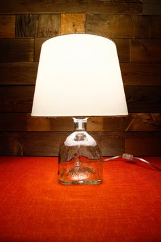 Table Lamp Patron Tequila Glass Bottle With A by DavesDoodads