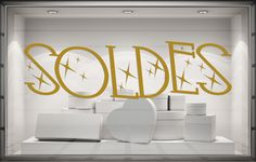 Sticker Soldes - Modèle Scintillement Stickers Vitrine, Decoration Vitrine, Mirror, Table, Furniture, Home Decor, Tattoo Ideas, Pink Aesthetic, Decoration Home