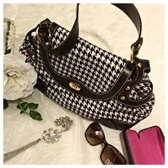 MAXX New York Handbag Houndstooth design shoulder bag by MAXX New York. In like new condition. From a pet/smoke free home Maxx New York Bags