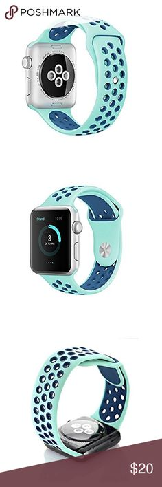 """38mm Nike Style Apple Watch sports band Brand new 38mm """"Nike Style""""Apple Watch Sports Band (Watch is not included) Great Gift for your friends and Love ones !!! Accessories Watches"""