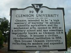 Clemson University Historic Marker by jimmywayne, via Flickr