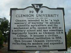 Clemson University Historic Marker by jimmywayne, via Flickr