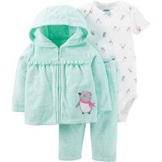 Child of Mine by Carter's Newborn Baby Girl Cardigan Set 3 Pieces - Walmart.com
