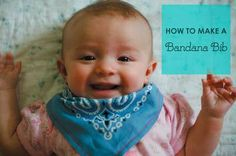 It seems early for her to be teething, but my baby girl has been dribbling like an adorable little faucet lately. Rather than chan. Toddler Boy Fashion, Toddler Boys, Bib Tutorial, Bandana Bib, Baby Sewing, My Baby Girl, Baby Bibs, Burp Cloths, Teething