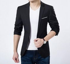 Mens Casual Fitted Blazer