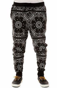 The Bandana Tapered Jogger Pants in Black