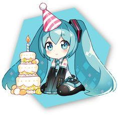 Nardack, Vocaloid, Hatsune Miku, Party, Transparent Background, Blue Neckwear