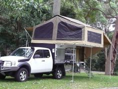 ✭✭The Amazing Wedgetail Truck Camper From Australia – (Introduction and discussion of DIY possibilities compared to a Camper style design. Truck Camper, Pickup Camper, Tent Campers, Camper Trailers, Slide In Camper, Build A Camper, Off Road Camper, Diy Camper, Trailer Build