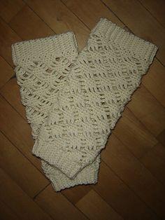 Ravelry: Lacy Leg Warmers pattern by Dot Matthews - for boot socks