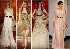 Mundo da Moda: Vestidos com Cintos Metálicos!
