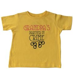 Grandpa's Partner in Crime - Organic cotton tee for toddlers