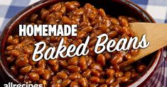 Homemade Baked Beans, Baked Bean Recipes, Rib Recipes, Smoker Recipes, Recipies, Chef John Recipes, Cooking Recipes, Cooking Tips, Healthy Recipes