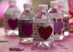 #Valentine's Party Bottled Water Wrap