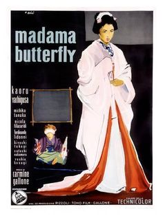 Giclee Print: Madame Butterfly by Ercole Brini : 44x32in