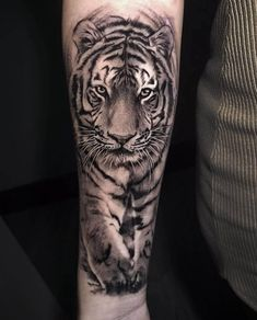 Tiger 🐯 🐯 🐯 tattoo by lion head tattoos, dad tattoos, tig