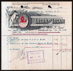 Shellyville KY 1895 Banner Roller Mills Logan and Logan Vintage Billhead Rare | eBay