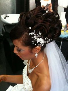African American. Black Bride. Wedding Hair. Natural Hairstyles. Cute