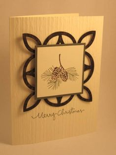 Merry Christmas - lattice die.  I have not made this card but it looks elegant and very easy to make.
