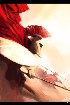 Spartans. This was under Fantasy Art but since they were a real people I figured I'd put this under history