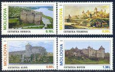 Moldova 1995 Scott 178-181 Architecture Set MNH