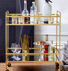 Shop terrace bar cart from west elm. Find a wide selection of furniture and decor options that will suit your tastes, including a variety of terrace bar cart. Diy Bar Cart, Gold Bar Cart, Bar Cart Styling, Bar Cart Decor, Plywood Furniture, Bar Furniture, Modern Furniture, Kitchen Furniture, Kitchen Dining