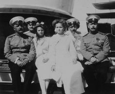 Olga and Tatiana on the imperial yacht 1911