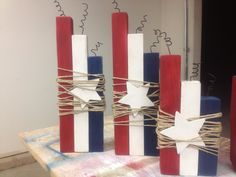 Red, White, and Blue Home Decor. $15.00, via Etsy.