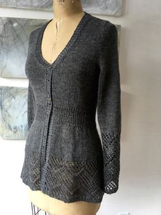 Beautiful knit sweater--Bare Naked Wools Ensemble Spring 2016 issue COMING SOON!