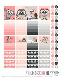 Free Printable Owl Life Planner Stickers from StickerCuteness