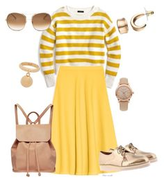 A fashion look from March 2017 featuring stripe sweaters, circle skirts and pink backpack. Browse and shop related looks. Max Co, Burberry, J Crew, Urban, Clothes For Women, The Originals, Polyvore, Stuff To Buy, Outfits