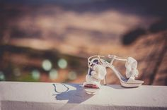 Real Weddings: Stefani and Christian's Spanish Wedding Bagley Mischka Shoes, Bridal Shoes, Wedding Shoes, Spanish Wedding, Metallic Shoes, Vineyard Wedding, Girls Dream, Christianity, Real Weddings