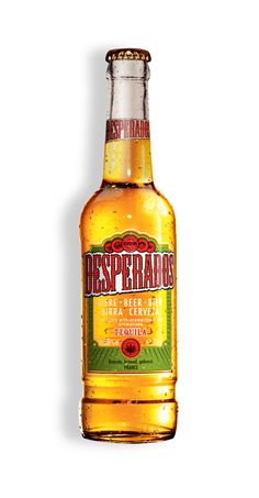 Desperados beer is a full bodied lager flavoured with tequila - a kick of the unexpected Tequila, Beer Label Design, Bullet Journel, Beers Of The World, Best Beer, Alcoholic Drinks, Cocktails, Hot Sauce Bottles, Root Beer