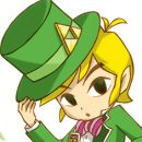 Link looking all Willy Wonka like! xD