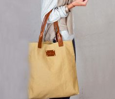 Canvas & Leather Bag.