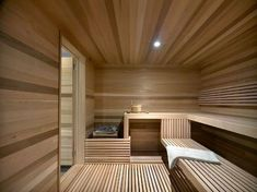 Ski Chalet With A Modern Interior Design. happens to have a big sauna to Spa Interior, Baths Interior, Home Interior Design, Sauna Design, Cabin Design, House Design, Sauna Steam Room, Sauna Room, Ski Chalet