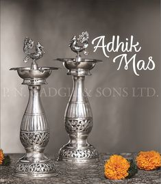 Buy Pure Silver Designer Jewellery Collection In P N Gadgil & Sons Silver Lamp, Silver Trays, Silver Jewellery Indian, Silver Jewelry, Silver Pooja Items, Hindu Statues, Pooja Room Door Design, Silver Furniture, Silver Ornaments