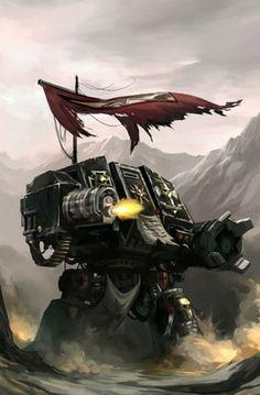 Space Marine - Warhammer 40k - Adeptus Astartes - Black Templars - Dreadnought